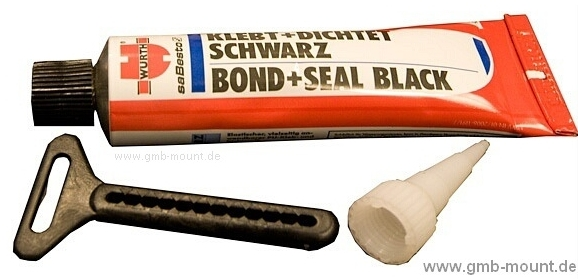 Würth Klebt&Dicht schwarz 70 ml/88g