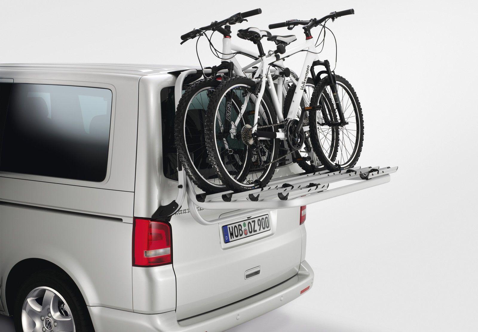 VW-Fahrradträger für Heckklappe für T6 silber