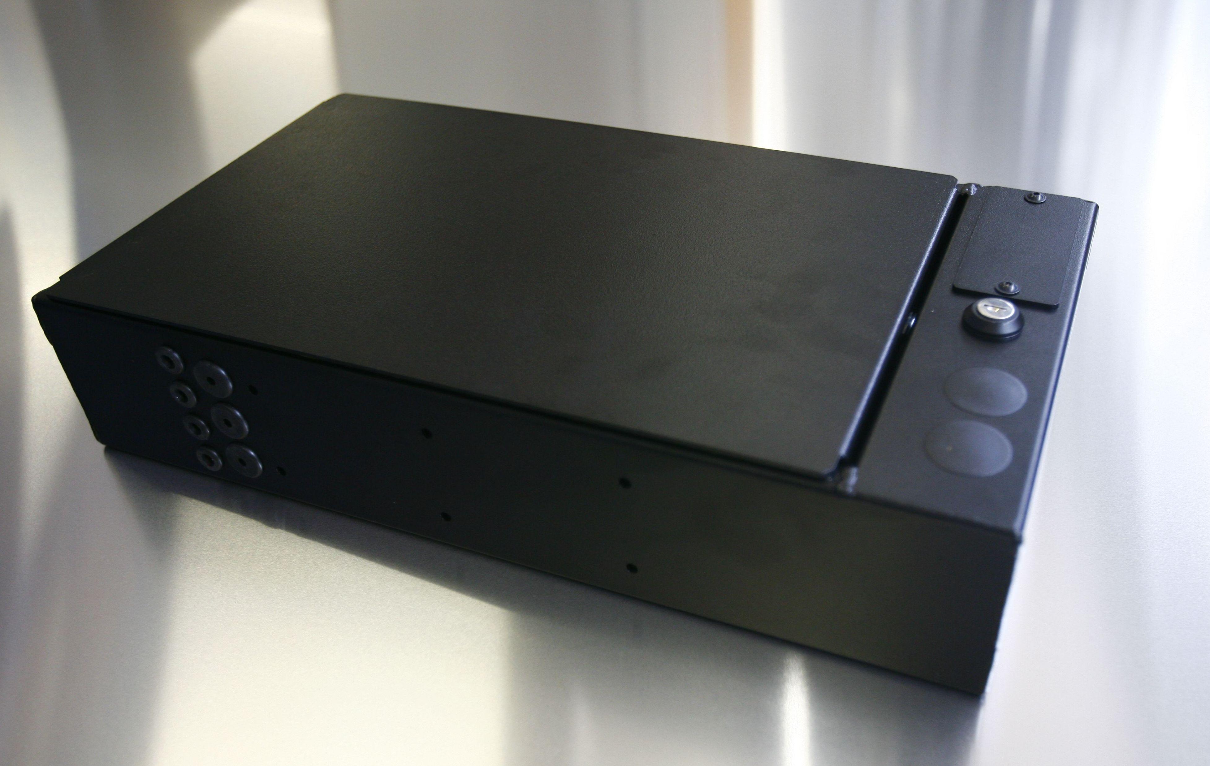 Erhöhung Mittelbox Td4/5 Normaler Deckel -- 100mm Alu schwarz