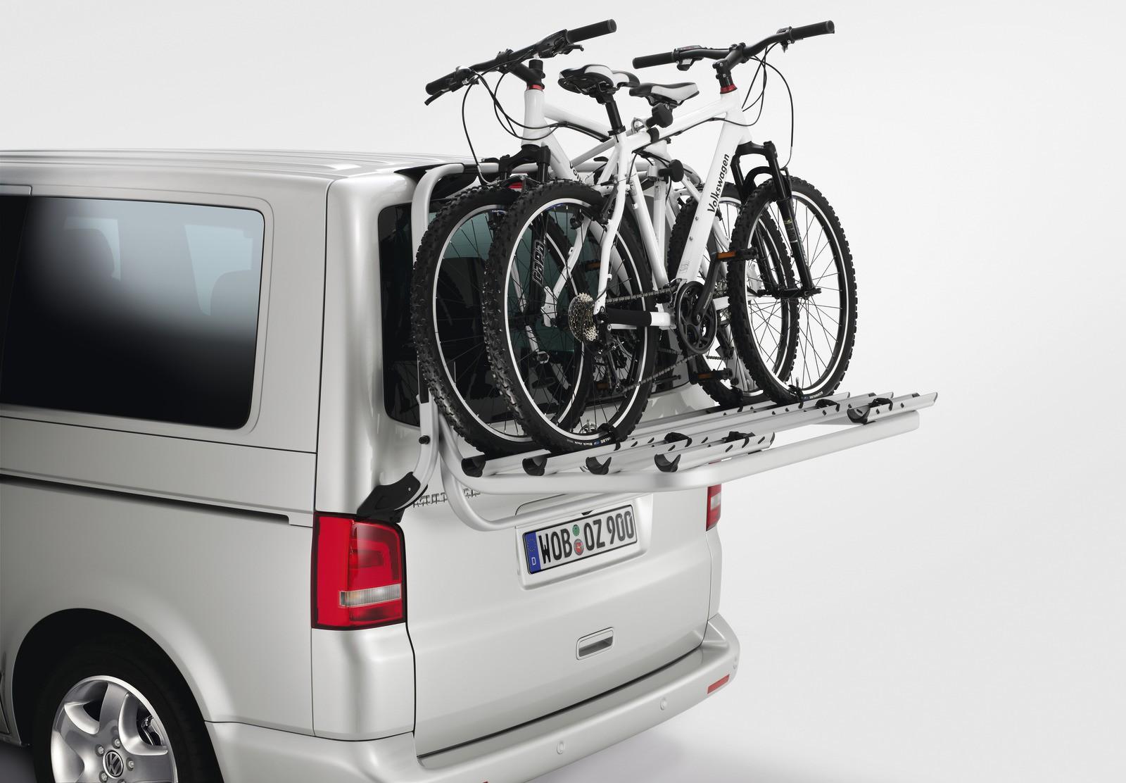 VW-Fahrradträger für Heckklappe für T5  silber