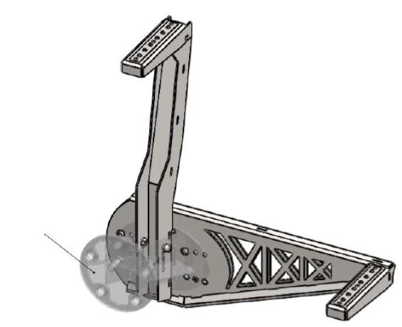 Trittstufen (oben/seitlich) für Reserve-Radhalter